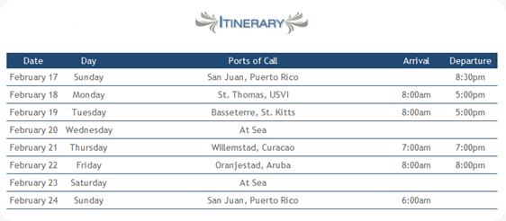 Royal Caribbean Running Cruise Itinerary